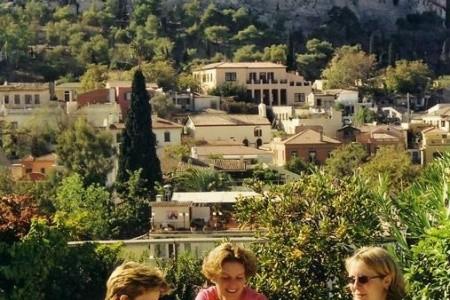 Plaka, Athény v říjnu